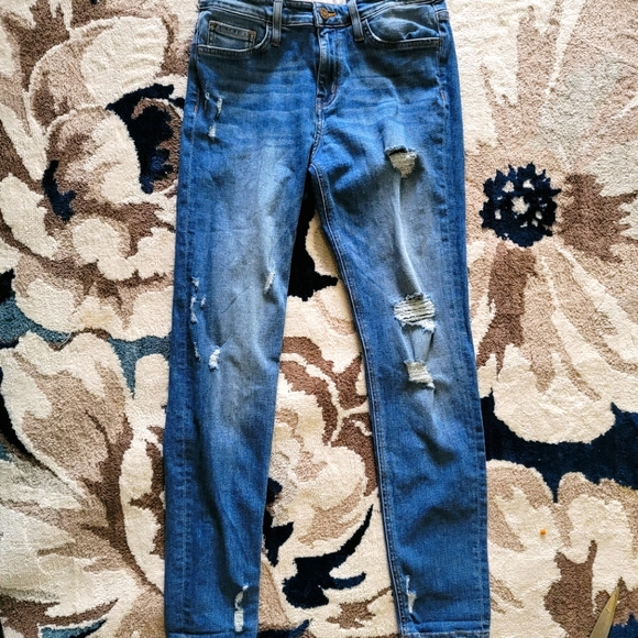 EXPRESS flying monkey Distressed skinny jeans